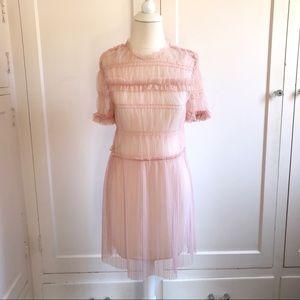 Topshop Blush Pink Tulle Tunic/Dress